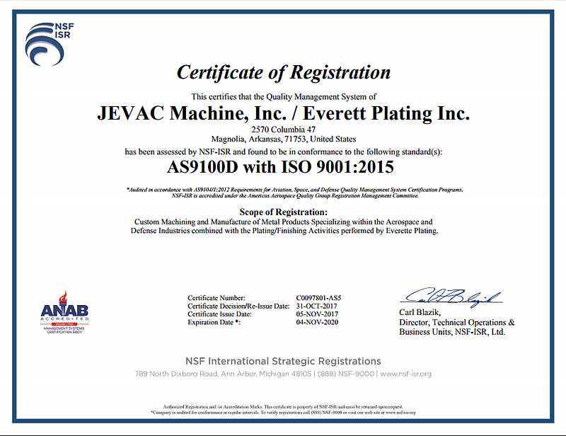 AS 9100 and ISO 9001:2015